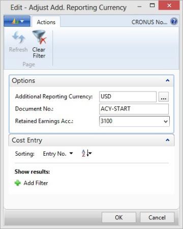 Microsoft Dynamics NAV - Adjust Additional Reporting Currency