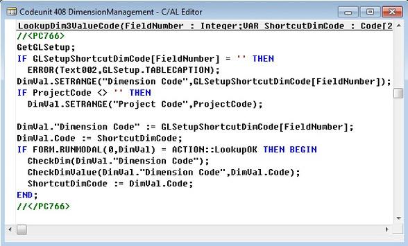 Microsoft Dynamics NAV - Codeunit 408 Dimension Management